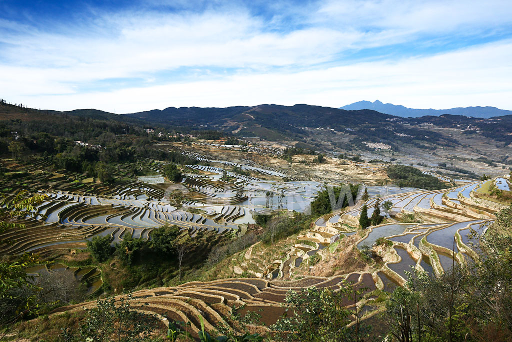 Rice fields and hills, MaLiZhai