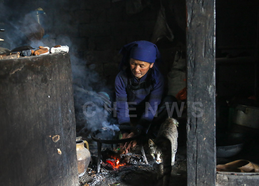 Kitchen fire, QingKou village