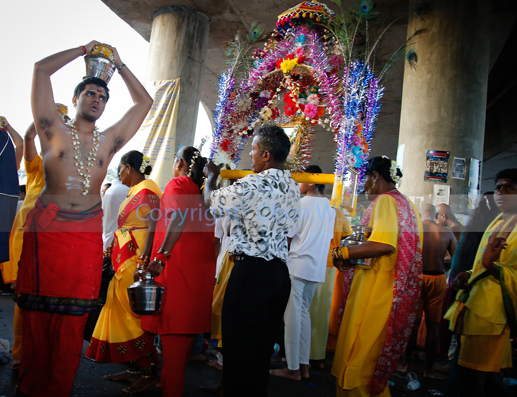 Milk pot and kavadi carriers