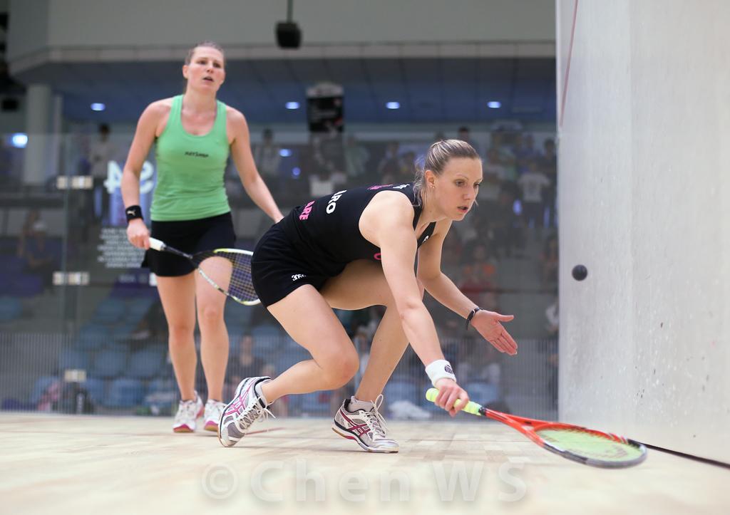 Line Hansen (Denmark) v Laura Massaro (England) black
