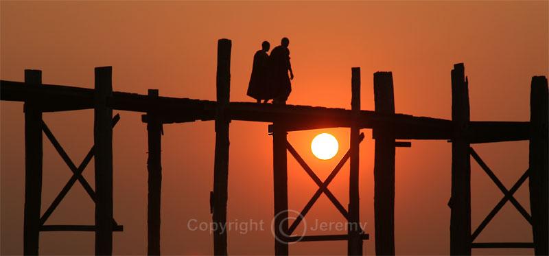Sunset Over U Bein Bridge, Amarapura (Dec 06)
