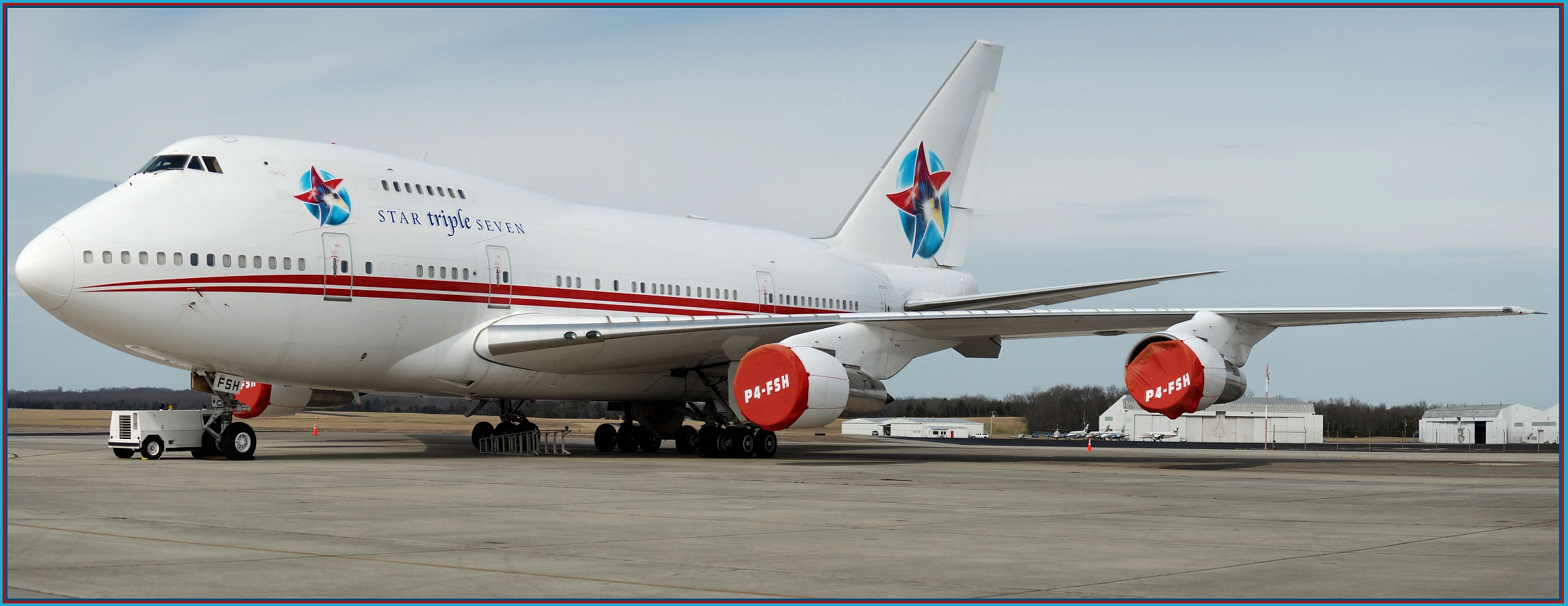 Star Triple Seven (Ernest Angley Ministries) Boeing 747SP-31 (P4-FSH) **HUGE Up-Close Panoramic**