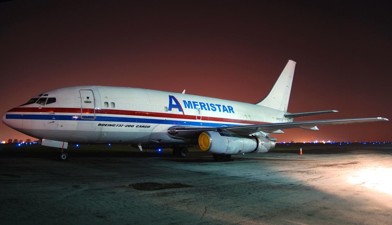 Ameristar Jet Charters Boeing 737-200 (N767TW) **Panoramic**