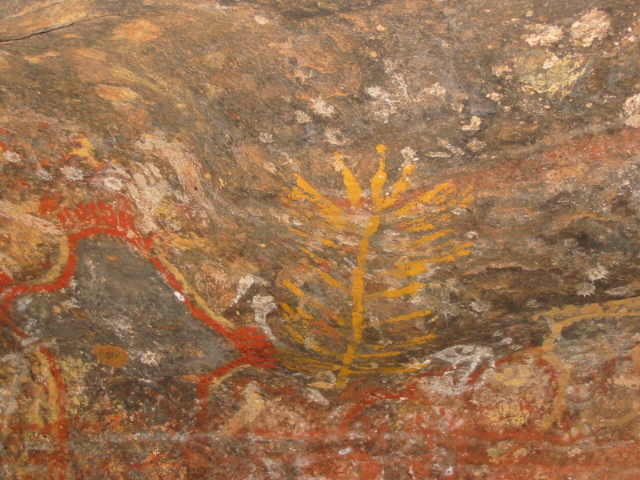 Aboriginal Art inside Ayers Rock