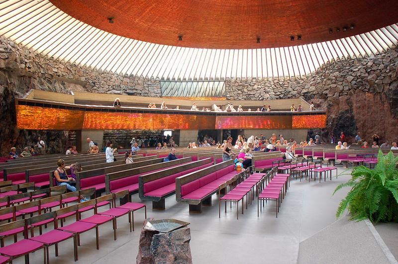 Temppeliaukio Kirkko (Rock Church), Helsinki FINLAND