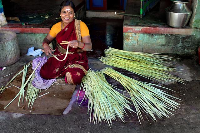 Weaving baskets