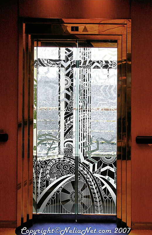 Etched Glass Elevator Door Photo Grouch Photos At Pbase