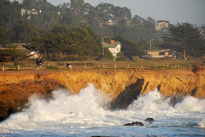 Boardwalk Crashing Waves