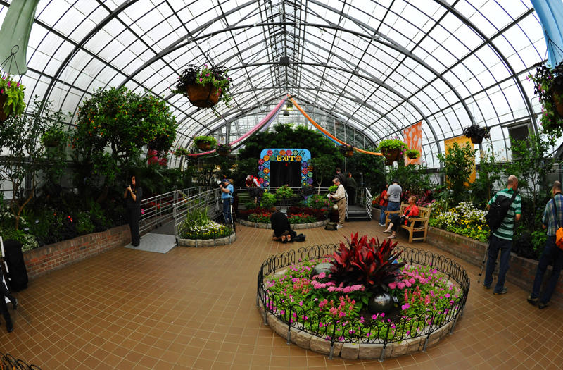 Inside the Krohn Conservatory Eden Park  Cincinnati Ohio
