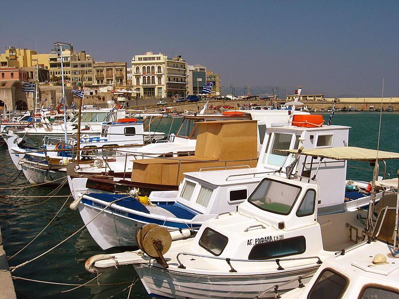 The harbour at Iraklio, Crete