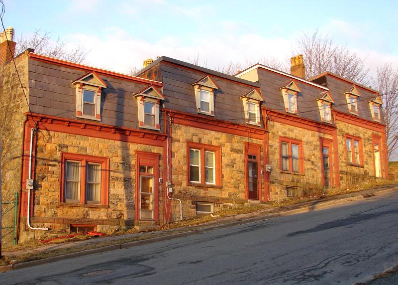 St. Johns Sunrise 010<br>Samuel Garrett Houses on Temperance Street