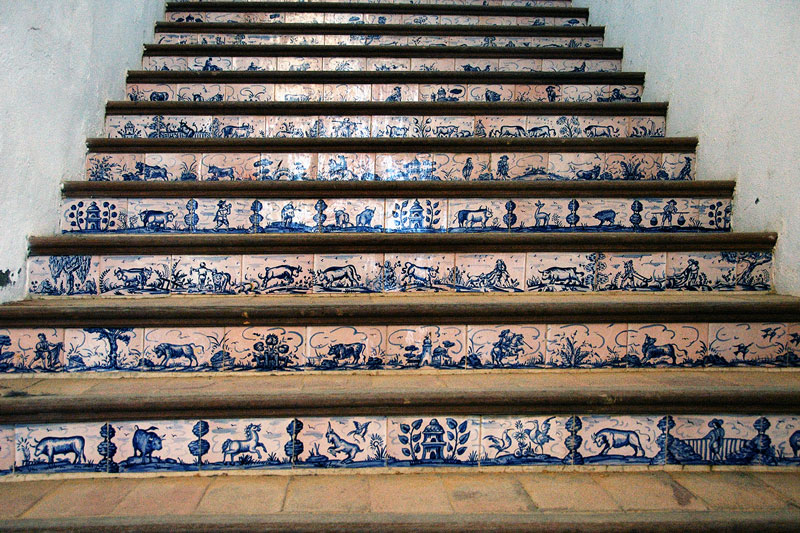 tiled stairway at the bullring