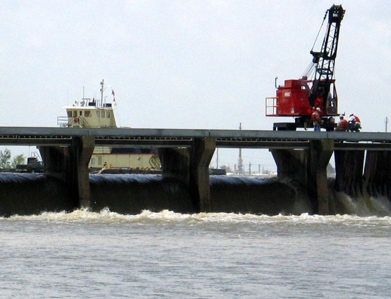 Spillway Locks Opened - April 11, 2008 - Noon