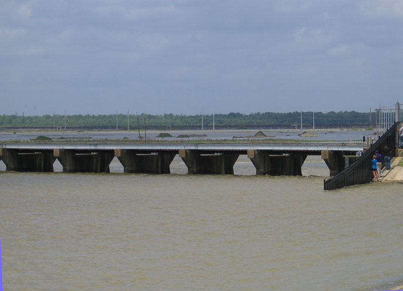 Water Seeks Its Own Level as it Rushes Through Spillway Locks Towards Lake Pontchartrain