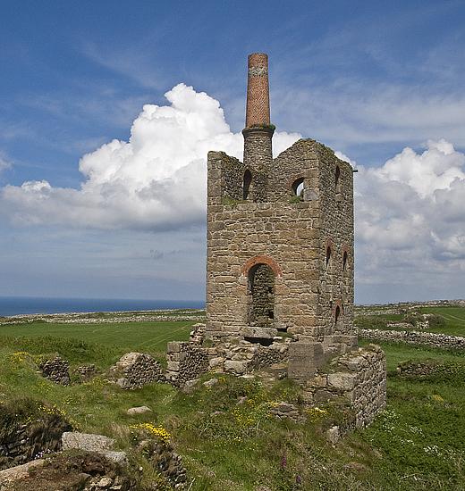 Ruins Of Botallack Tin Mine Engine House