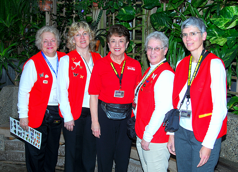 Some Of The Gallery Guides At The Butterfly Garden