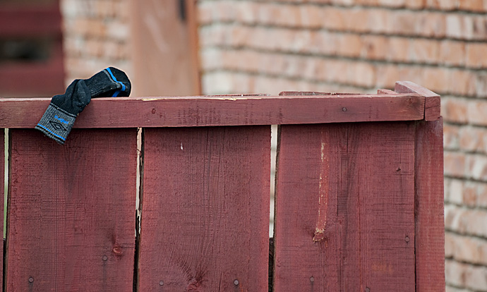 A Sock on the Fence