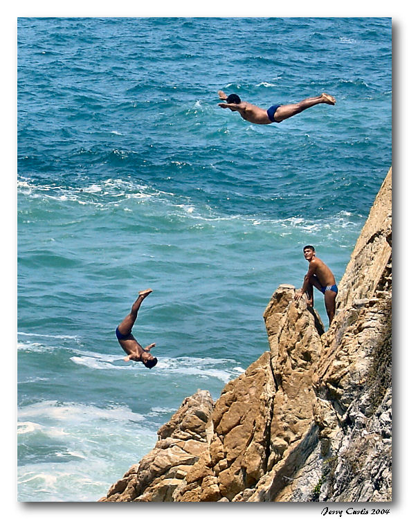 3rd Place<br><B>Cliff Divers of Acapulco</b>