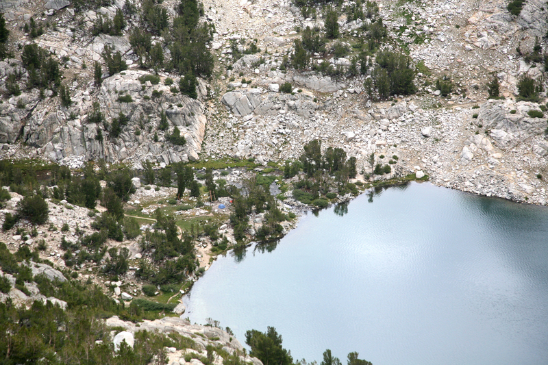 Our camp is down there...two tents
