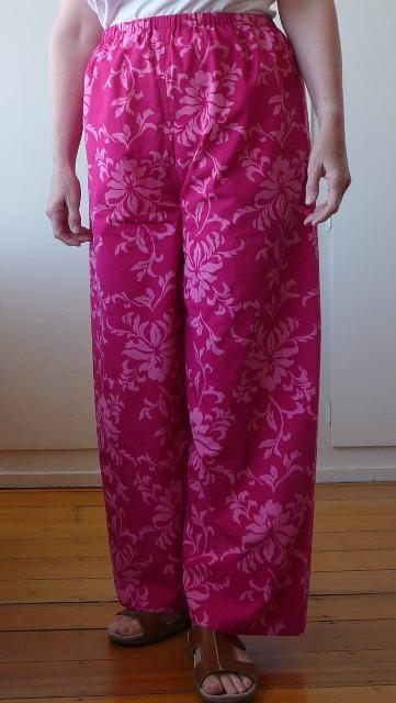 Pink pyjama pants