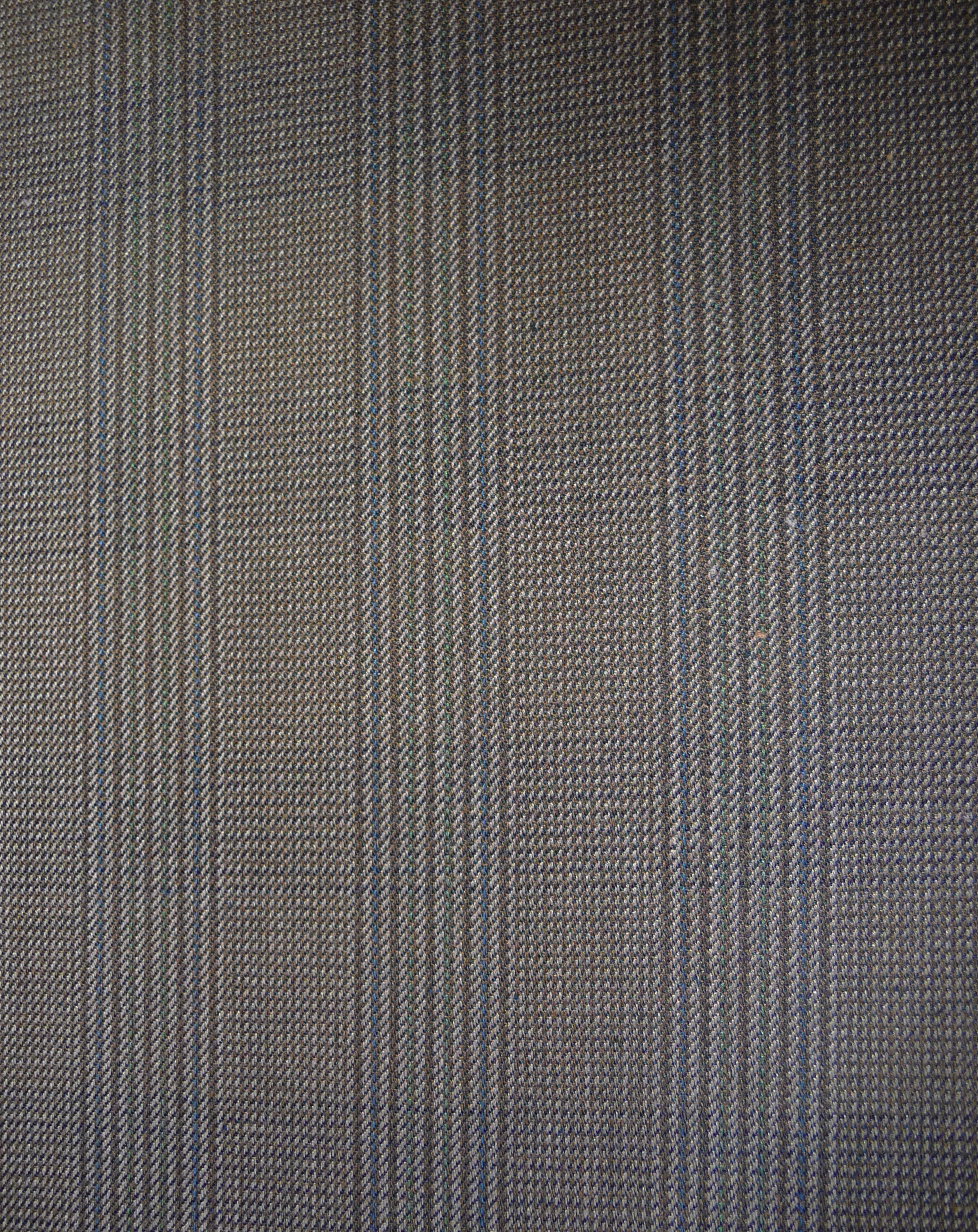 Fabric detail - a wool blend plaid