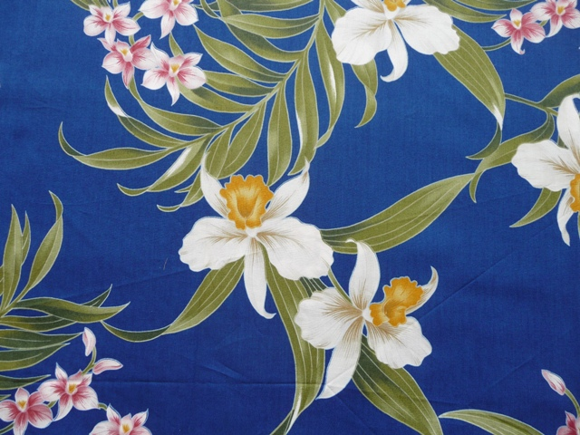 Fabric detail: poplin from Hawaiian Fabric