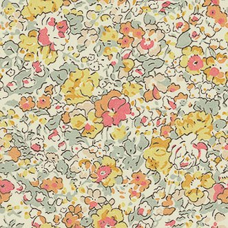 Fabric detail: Libertys Claire Aude in yellow