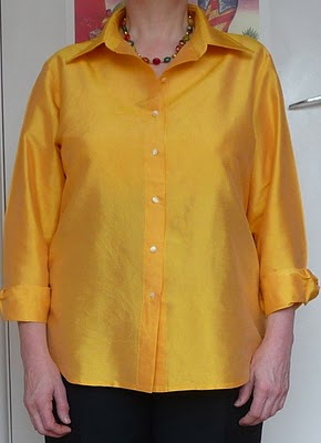 Third version: in yellow dupioni silk