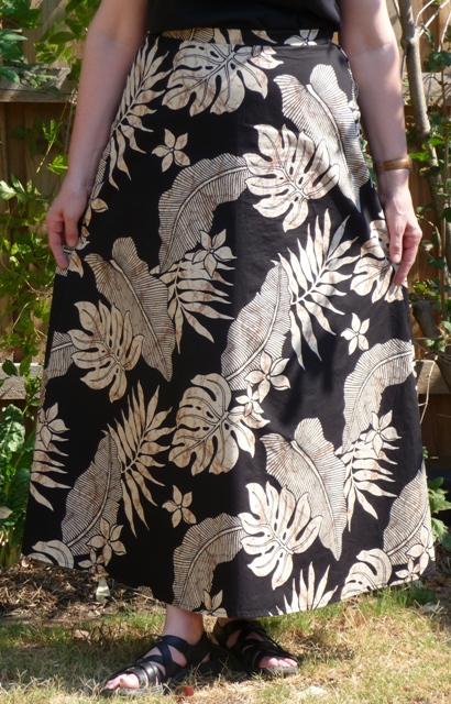 The skirt is slightly flared
