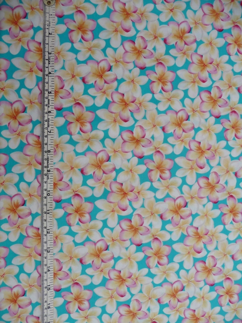 Next version: in this tropical print cotton from Spotlight