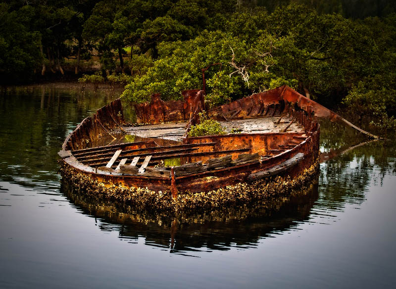 5th Old rusting boat by Dennis