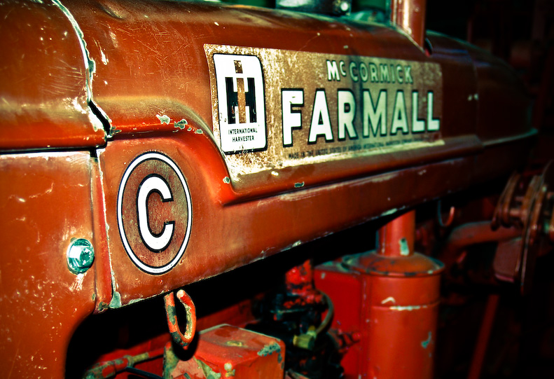 a red tractor - casey