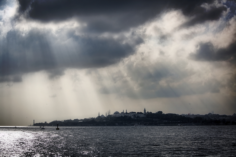 Seraglio Point and Sultanahmet from the Bosphorus
