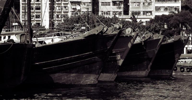Fishing Boats, Aberdeen in Hong Kong
