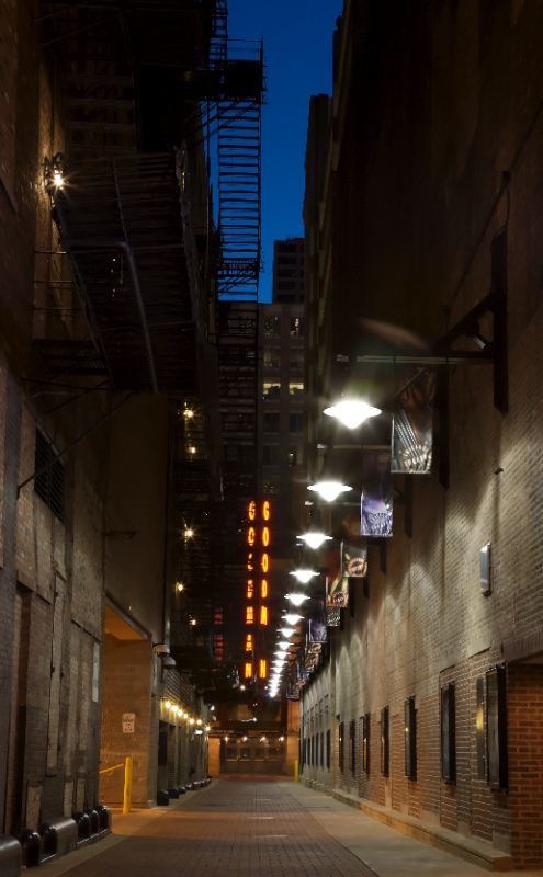 Alley to the Goodman Theater