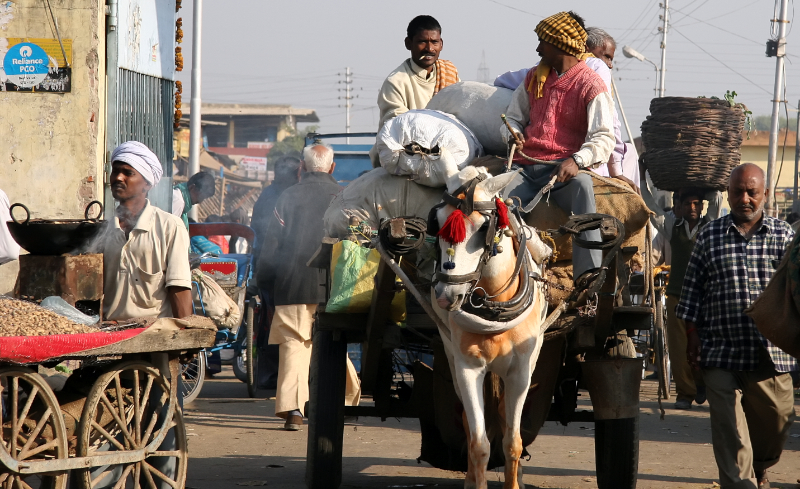 On the road , Delhi to Agra