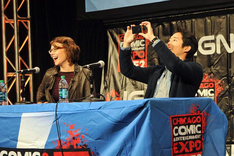 The Walking Deads Lauren Cohan and Steven Yeun