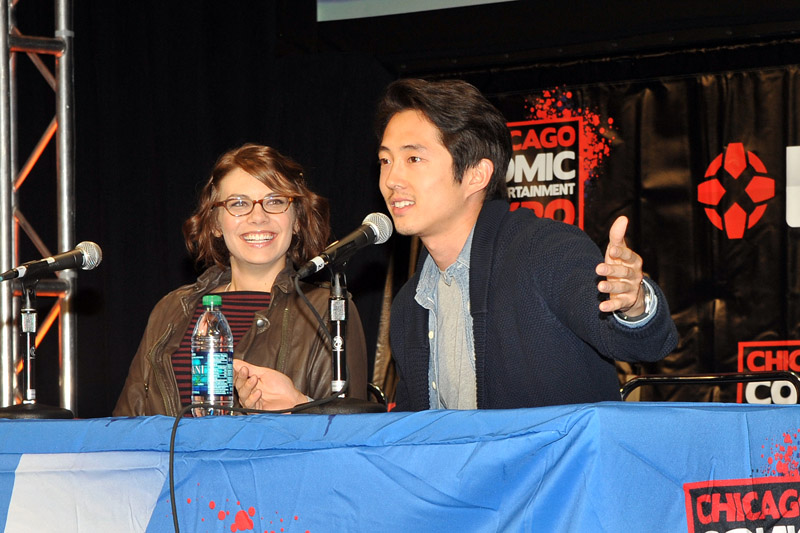 The Walking Deads Lauren Cohan and Steven Yeun