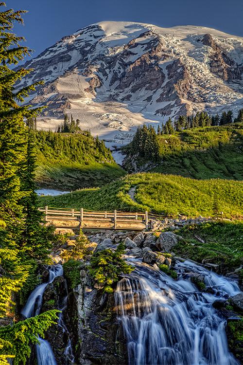 Mt. Rainier  Myrtle Falls