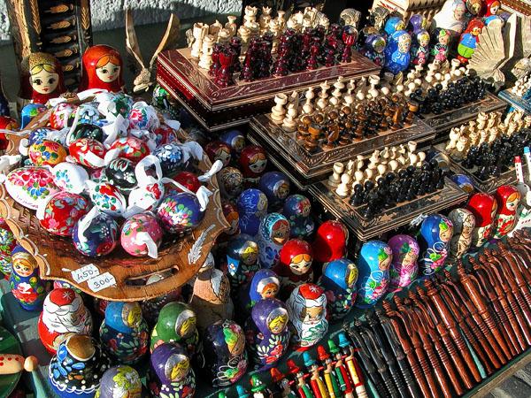 Knick knacks and souvenirs for sale - Szentendre
