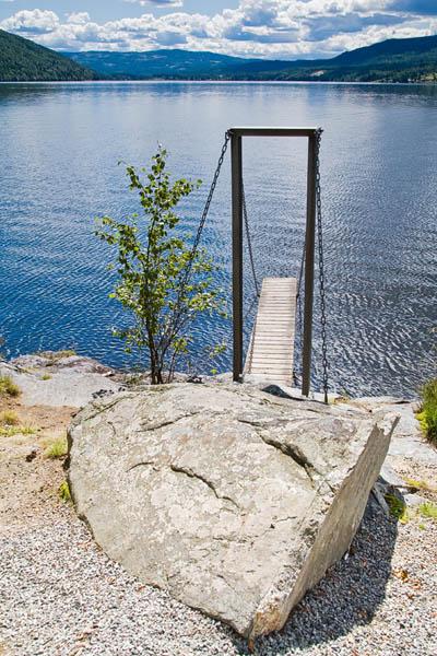Small pier on Krøderen lake