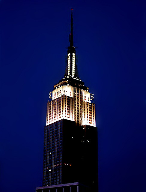 Empire State Building, at night
