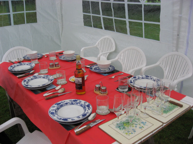 Table set for Burns Lunch