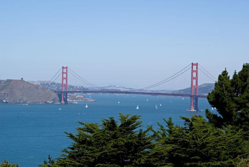 Golden Gate Bridge seen from the Legion of Honor Museum