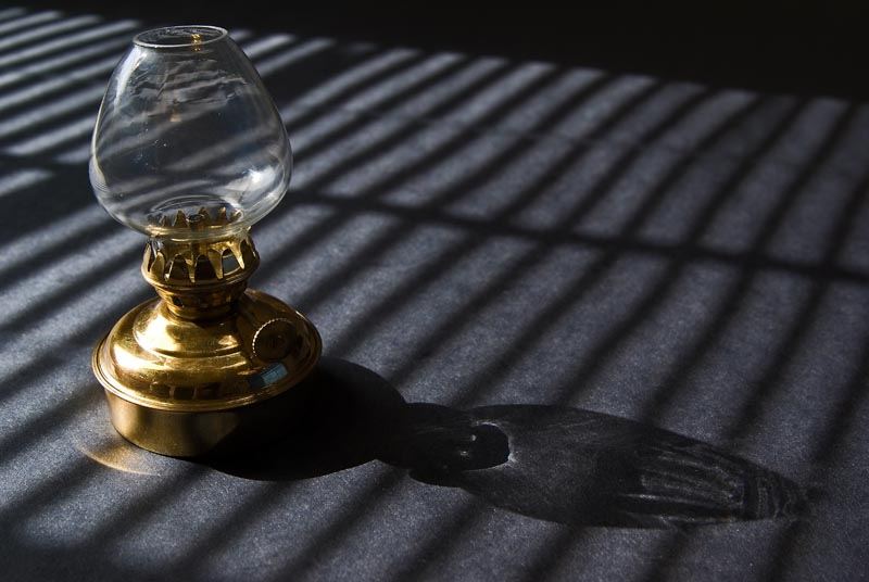 Oil Lamp in the Sun