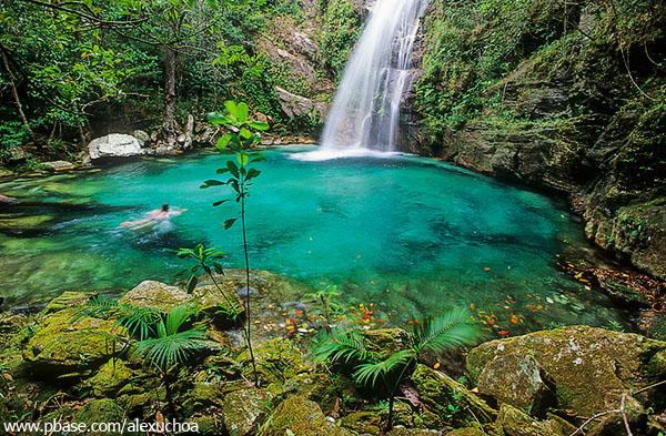 Cachoeira de Santa Bárbara, Cavalcante, Chapada dos Veadeiros, GO