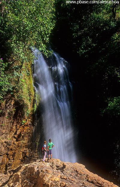 Cachoeira dos dois Saltos, Vale do Macaquinho, Chapada dos Veadeiros, GO