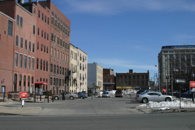 Site of the old Warner Theater