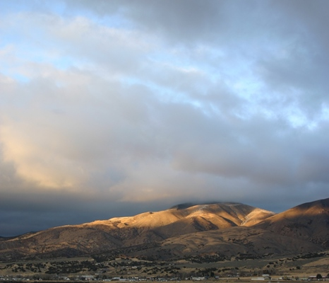 Sunset Grazes the Peak