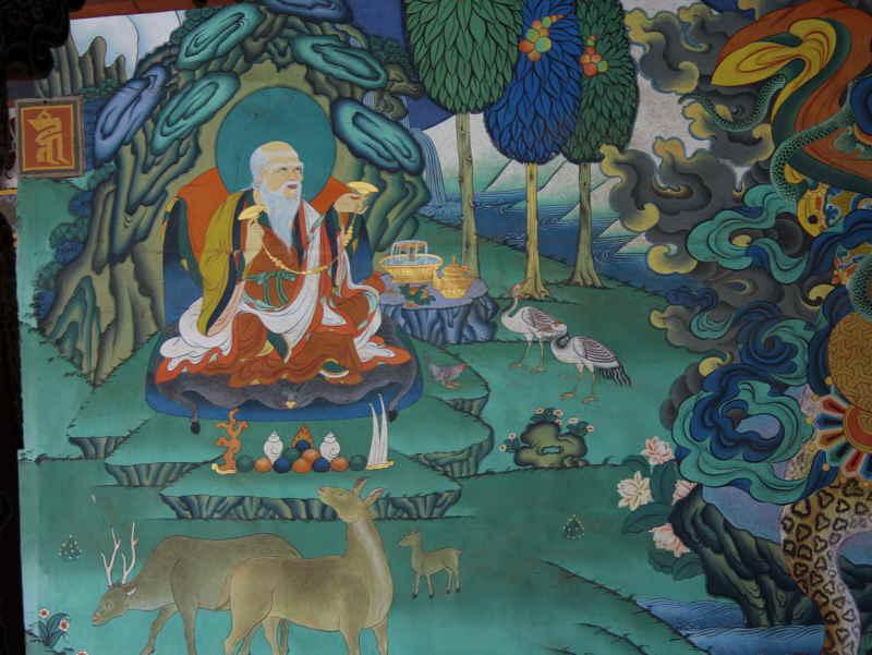 Mural paintings, Trongsa Dzong, Bhutan